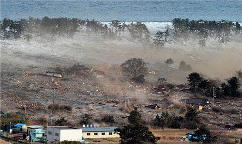 2011年东日本大地震引起的海啸图片来自网络