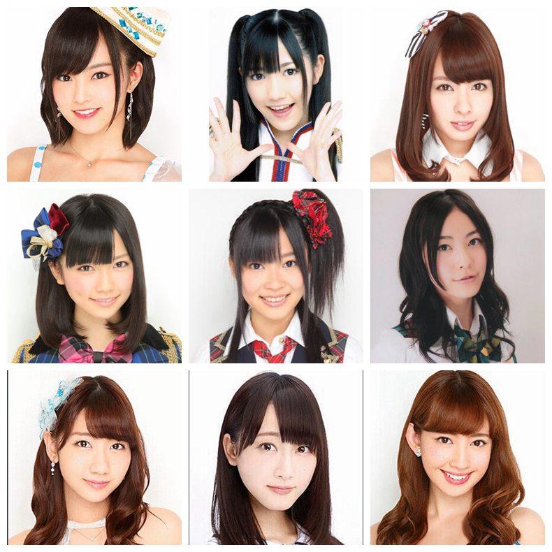 最可爱的AKB48成员:山本彩第一、小嶋阳菜垫
