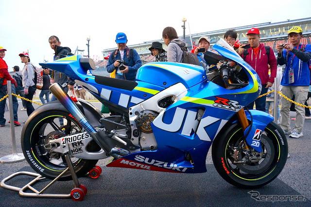 参战motogp下一赛季的铃木摩托车gsx-rr预热赛车表演【2】