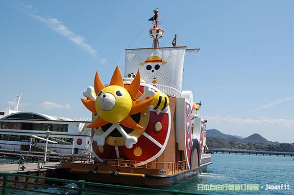 长崎县旅游景点·豪斯登堡主题公园内的《海贼王》千阳号(长崎县供图)
