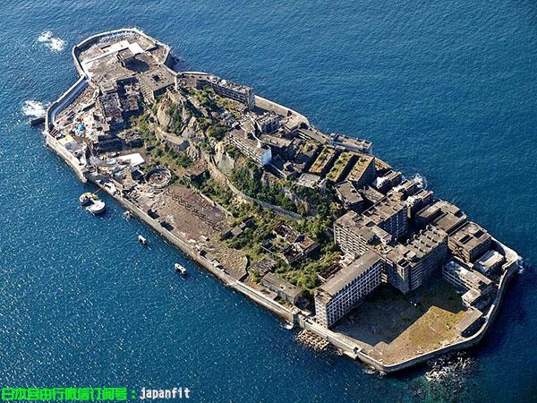 空中俯瞰长崎市·军舰岛(资料图)