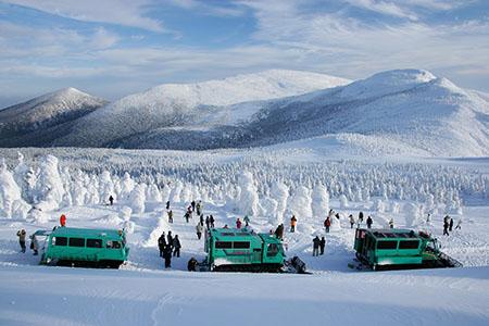 """宫城县冰雪公园·澄川Snow Park的雪车""""Wild Monster号"""""""