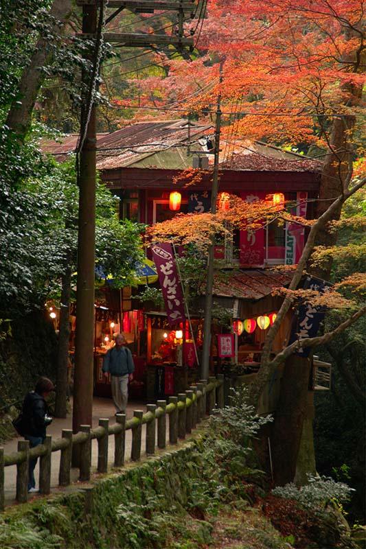 通向萁面瀑布的走廊(大阪府供图)