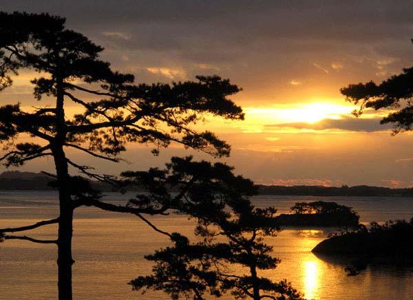 一日之计在于晨,说的就是早上对于一天新开始的重要性。 日面环海的日本,一大早最先遇到的恐怕就是日出了。为了博得一天良好的开始,抬头看看日出,或许能给自己带来很多正能量,不妨是去日本旅游时早上值得做的一件事情。 为寻找最值得一看的日出,小编跟随日本网民的盘点,对日本的日出做一系列介绍,希望能对诸君的日本之行带来一点小帮助。 地处日本东北的宫城县松岛,有着日本三景之一的美称,其魅力自然不必多说。 面朝太平洋的松岛,在当地最早迎来日出,站在松岛湾远望日出,迎来新的一天,将日出染红的松岛美景尽收眼底。 值得推荐的