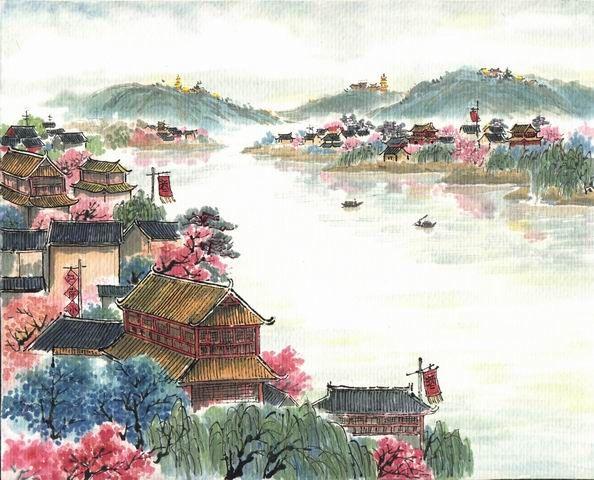 【用日语读唐诗】杜牧--江南春