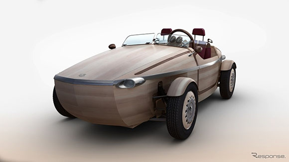 木头法拉利跑车图片