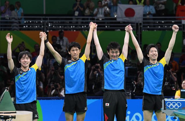 里约奥运:乒乓球男团日本战胜德国_挺进决赛