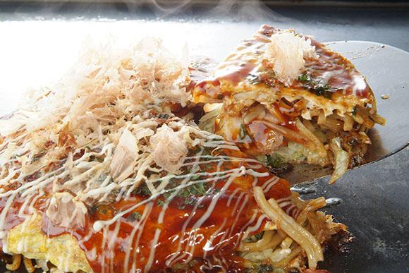 日本旅游广岛美食:什锦煎饼