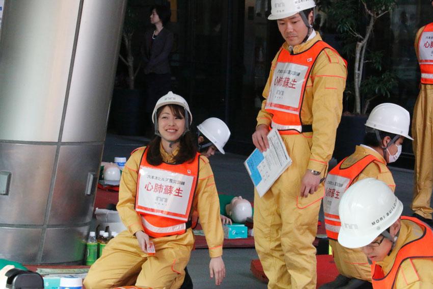 东日本大地震6周年前夕日本森大厦举行防灾训练