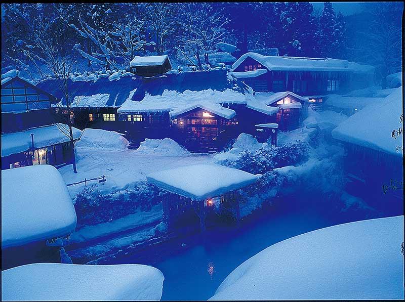 日本旅游东北自由行景点:秋田县的乳头温泉乡