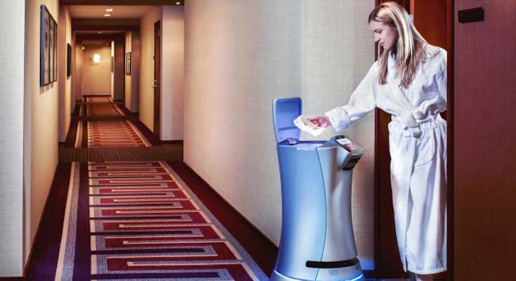 日本王子大饭店10月引进机器人自动配送宾馆用品到客房