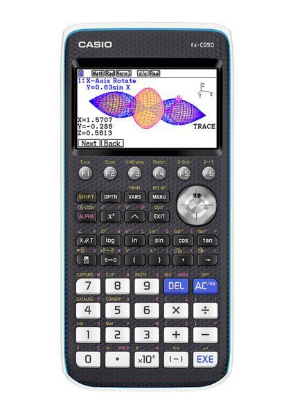 卡西欧推出新款彩色电子计算器 可绘制3D图形