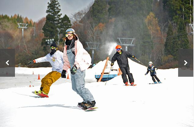 日本岐阜县滑雪陆续开板WingHills白鸟度假村率先启动本雪季营业