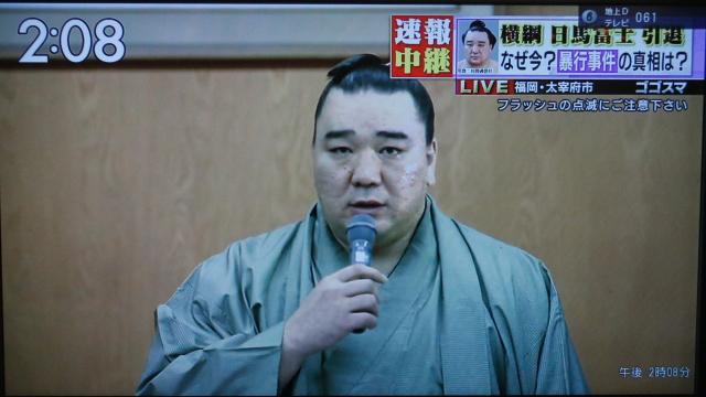 对同胞选手施暴日本相扑横纲日马富士宣布退役