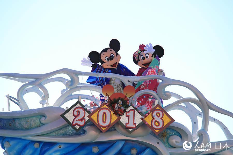 """东京迪士尼海洋乐园新年特别活动""""拜年贺岁"""""""