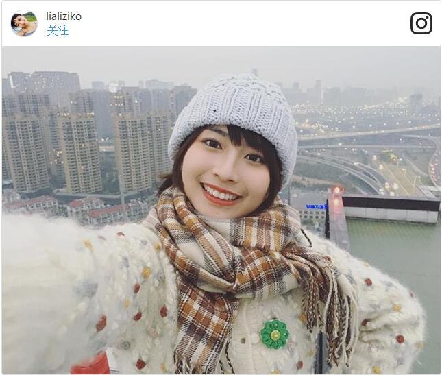 中国女孩龙梦柔神似新垣结衣走红日本(图片来源:龙梦柔ins账号)