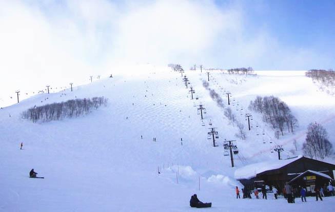 长野白马八方尾根滑雪场国际色彩浓 春雪有望滑到5月初