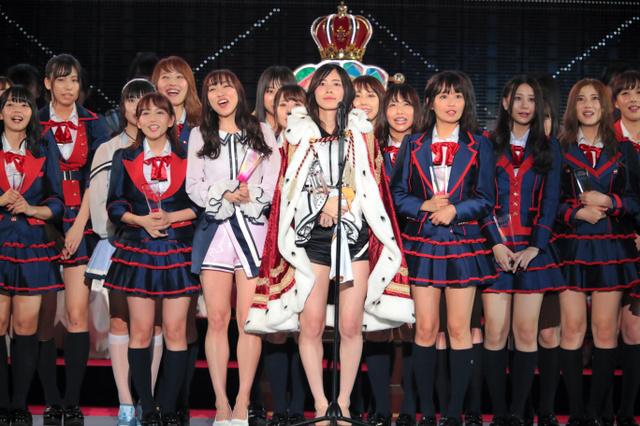"""松井珠理奈获得""""第10届AKB48世界选拔总选举"""" 第一名"""
