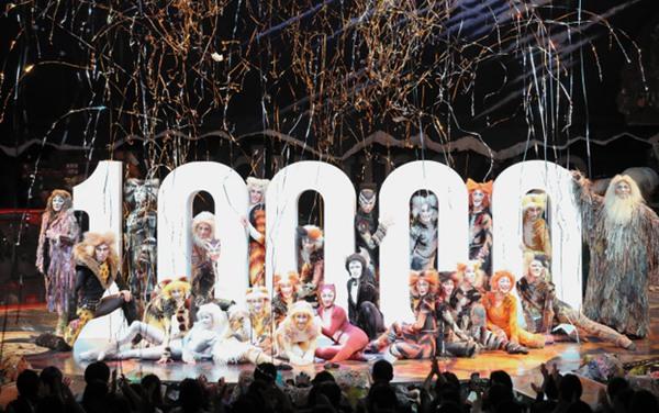 日本四季剧团音乐剧《猫》迎来第一万场演出 观众累计995万人(图片来源:朝日新闻网站)