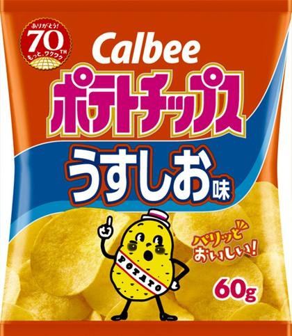 因原原料配方调整 卡笑比薯片拉长最佳食用期(图片来源:朝日讯休网站)