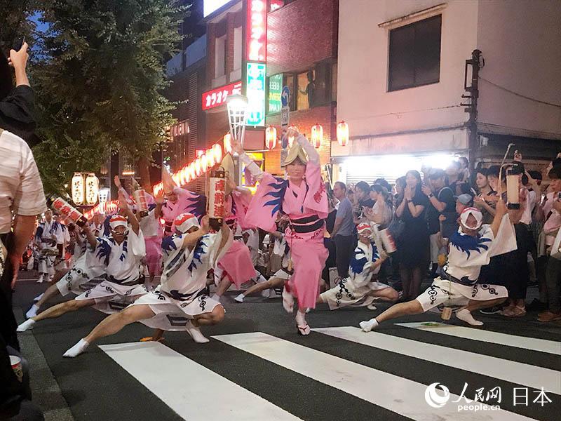 因10号台风来袭 日本德岛的阿波舞祭取消14日的表演活动