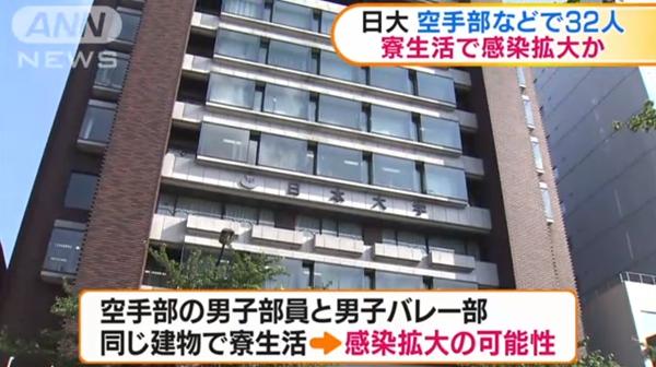 日本大学新增新冠确诊病例32例 群聚感染总数已达62例