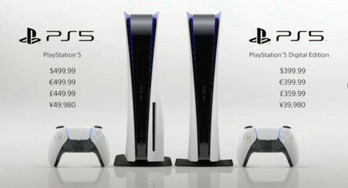 索尼时隔7年发售新一代游戏机PS5