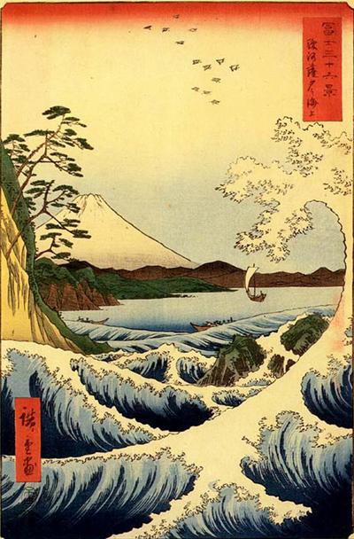 日本浮世版画 日本的绘画 图片素材
