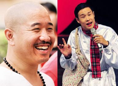 """中饰演""""刘能""""的演员王小利(左)和二人转演员小沈阳"""