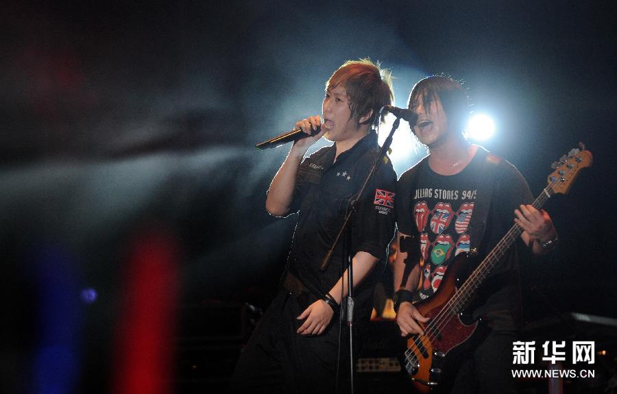 日本摇滚组合Flumpool激情唱响2013贡寮国际