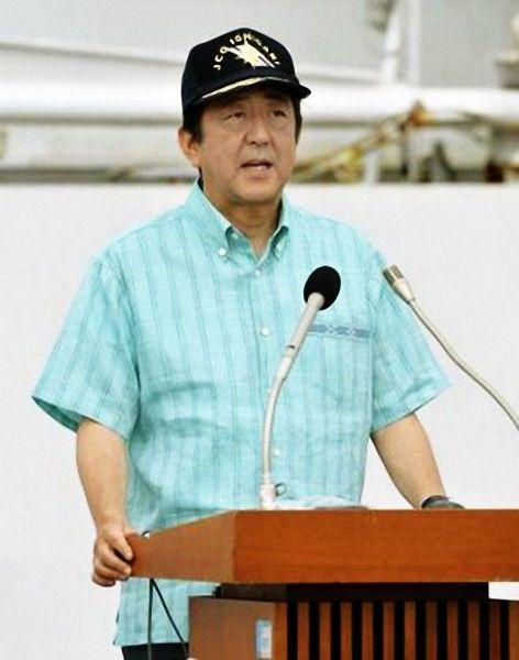 日本首相安倍抵达中国