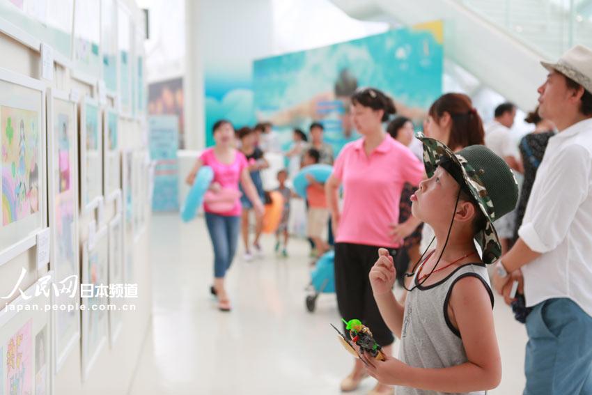 中日地震灾区儿童画展亮相北京